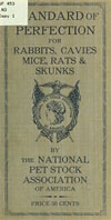 National Pet Stock of Association of America (NPSAA) Standard of Perfection book 1915