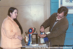 Richard Pfarr with the BIS mouse at the MRBA Jan. 4, 1981 show