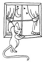 Mouse at window