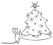 Mouse at tree